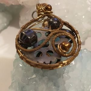 🇨🇦Steampunk Wire Wrapped Pendant